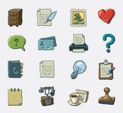 Office icons. Hand drawn  icon set Stock Photos