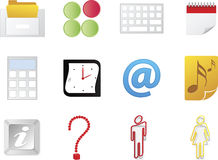 Office icons. Different type of office icons Royalty Free Stock Photos