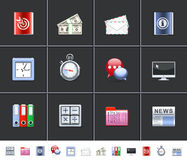 Office icons royalty free illustration