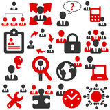 Office icons. Icons for teamwork, communication and administration at the office Stock Images