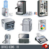 Office icons 3. A collection of color office icons - part 3 Royalty Free Stock Photography