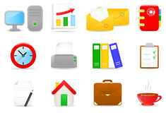 Office icons. Vector illustration of office icons Royalty Free Illustration