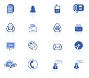 Office icons. Miscellaneous office and communication raster icons. Vector version is available in my portfolio Royalty Free Stock Photo