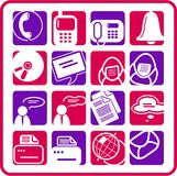 Office icons. Miscellaneous office and communication raster icons. Vector version is available in my portfolio Royalty Free Stock Images