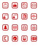 Office icons. Miscellaneous office and communication raster icons. Vector version is available in my portfolio Royalty Free Stock Image