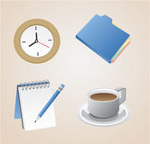 Office Icons. Set of office Icons in 3D and highly detailed Royalty Free Stock Photography