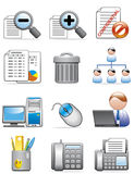 Office icons Royalty Free Stock Photo