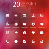 Office 1 icons on blurred background Royalty Free Stock Photography