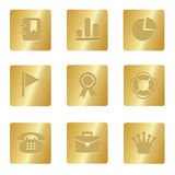 Office Icons | Bronze Square 04. Professional set for your website, application, or presentation stock illustration