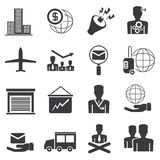 Office icons and business icons Royalty Free Stock Photos