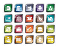 Office Icons. A collection of different kinds of office icons. It contains hi-res JPG, PDF and Illustrator 9 files Royalty Free Stock Photography