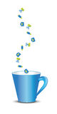 Office icons cup Stock Photos