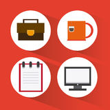 Office icons desgin Stock Image