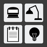 Office icons desgin Stock Photos