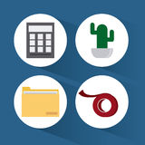 Office icons desgin Royalty Free Stock Photo