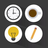 Office icons desgin Stock Photography