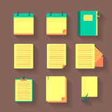 Office icons with documents set Royalty Free Stock Photography