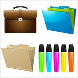 Office icons and elements Royalty Free Stock Photos