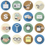 Office Icons. Flat Design Office Icons Vector Illustration Royalty Free Stock Photo