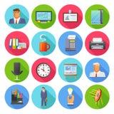 Office Icons Flat Set Stock Image