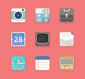 Office icons flat style Royalty Free Stock Images