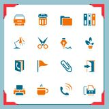 Office icons | In a frame series Stock Images