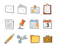 Office Icons Fresh Collection - Set 1. Professional Office icon collection for websites, applications or presentations Royalty Free Stock Photo