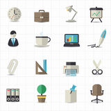 Office icons. This image is a vector illustration Royalty Free Stock Photo