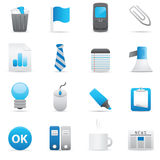 Office Icons | Indigo Series 02. Professional icons for your website, application, or presentation. Vector icons: illustrator and other compatible applications Stock Illustration