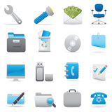 Office Icons | Indigo series 03. Professional icons for your website, application, or presentation. Vector icons: illustrator and other compatible applications Stock Photo