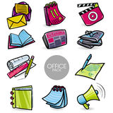 Office Icons with Individual Shadow Layer Stock Photography