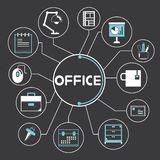 Office icons, infographic Royalty Free Stock Photo