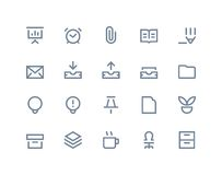 Office icons. Line series Stock Photo