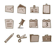Office Icons Retro Fresh Collection - Set 1. Professional Office icon collection for websites, applications or presentations Royalty Free Stock Photos