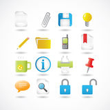 Office Icons Series Set Stock Photography