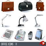 Office icons set. A collection of office color icons - part 2 Stock Photos