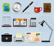 Office icons set. For web design Royalty Free Stock Photography