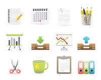 Office Icons Set 3. Office Icons Set For Application Or Web Site Royalty Free Stock Image