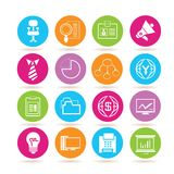 Office icons. Set of 16 business and office icons Stock Photo