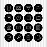 Office icons. A set of office and business icons or buttons Royalty Free Stock Images
