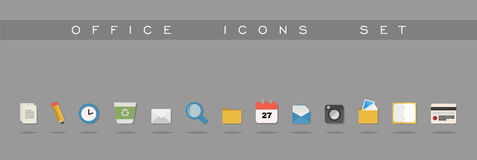 Office icons set design Royalty Free Stock Photo
