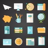 Office Icons Set Stock Photography
