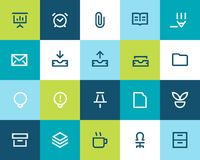 Office icons set. Flat Royalty Free Stock Photography