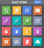 Office Icons set in flat style with long shadows. Vector application Office Icons set in flat style with long shadows Royalty Free Stock Images