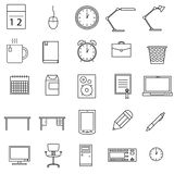 Office icons set Royalty Free Stock Images