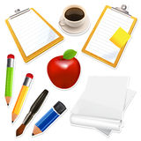 Office icons set Royalty Free Stock Photo