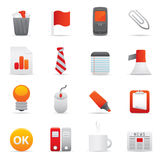 Office Icons Set   Red Serie 02 Royalty Free Stock Photography