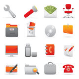 Office Icons Set | Red Serie 03 Royalty Free Stock Photos