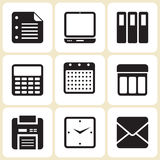Office Icons Set. Office Related Icons and Signs Vector Royalty Free Stock Images