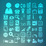 Office icons set  Retina Royalty Free Stock Photography